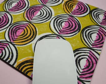 Buy 2 FREE SHIPPING Special!!   Mouse Pad, Fabric Mousepad   African Inspired Onions