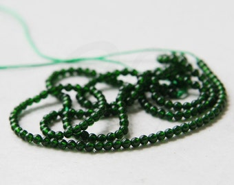 One Strand (16 Inches) Green Stone - Round 2mm (77)