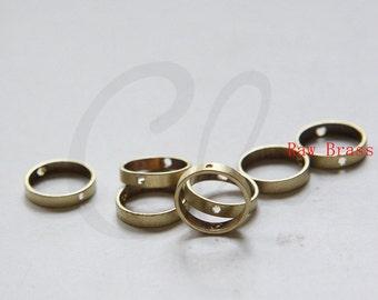 10pcs Raw Brass Round Frame - Round 12mm (3286C-E-624)