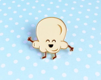 Popcorn Enamel Pin - TIFF Toronto International Film Festival snack food kernel film movie lapel cute cartoon