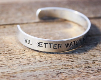 Cuff Bracelet - You better watch your mouth sunshine - The Walking Dead - Daryl Dixon