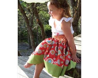 Butterfly Kisses Olivia Skirt Pattern ~ Girls skirt pattern for sizes 3 to 12 yrs