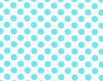 Ta Dot in Aqua Polka Dots for Michael Miller - 1 Yard