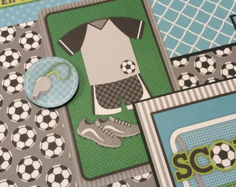 Soccer Scrapbook Layout Page, Customizable Numbers, Soccer Layout, 12x12 Soccer Album Page,