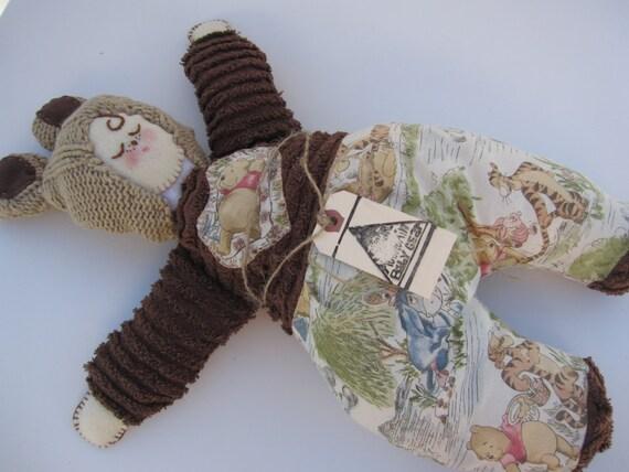 Dear Mr Rabbit Teddy Girl: Whinny The Pooh Doll Stuffed Bear Doll Rag Doll Vintage Whinny