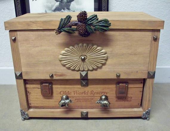 Man Cave Box : Cigar box cabinet man cave boxstorage valet