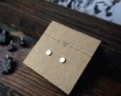Tiny Sterling Post Earrings