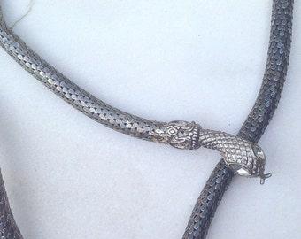 Mesh Snake Adjustable Necklace