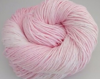 Hand-dyed linen yarn, DK, double knitting, Candy Floss