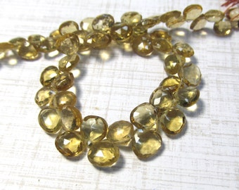 AAA Natural Champagne Quartz Briolette Beads ,6mm 7mm Beer Quartz gemstone 8 Inches