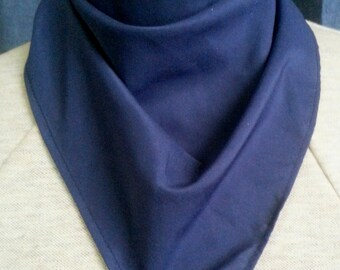 Solid color polyester bandana tracheostomy stoma cover scarf - with or without velcro closure