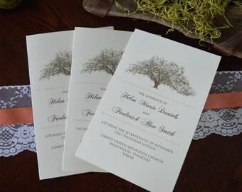 Rustic Wedding Programs - Tree Theme Outdoor Wedding