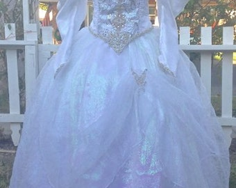 Sarahs Labyrinth Masquerade Movie Gown Custom Upscale Halloween Costume with Rhinestones