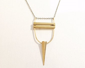 Spike and Bars Necklace