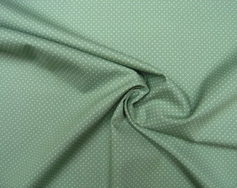Cotton Fabric • micro dots •  natural / asparagus green • 002474
