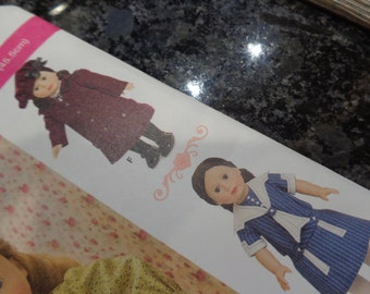 """Simplicity 18'"""" doll clothes pattern"""