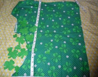 Lucky Clover Leaf Theme Fabric along with 13 Green Felt clovers