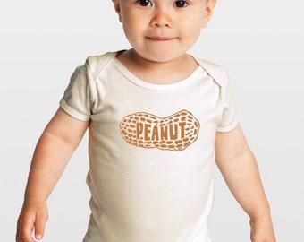 Peanut — Gender Neutral Organic Baby One-Piece