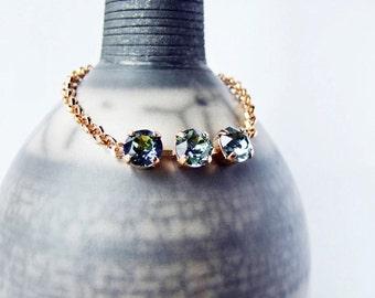 How Green Was My Valley   - Swarovski Layering Bracelet