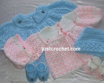 Outfit for twins Baby Crochet Pattern (DOWNLOAD) 04