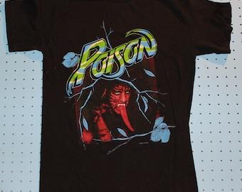 Poison vintage concert tshirt 1988 80s