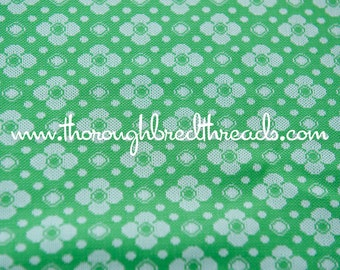 Dots and Daisies- Vintage Fabric Whimsical Novelty New Old Stock 70s Adorable