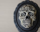 Mr. Sugar Skull Stainless Steel Card Case - Calavera Day of the Dead Mexican Cameo 40x30m - Insurance Included