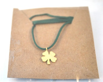 Dainty Charm Necklace/Shamrock Necklace