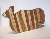 Whale of a Cutting Board Handcrafted from Mixed Hardwoods