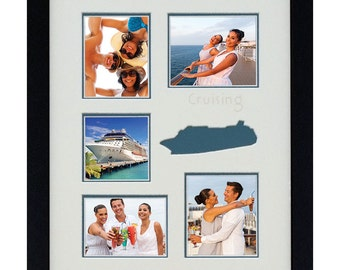 Custom Photo Frame/Cruising Photo Collage 11x14 (mat only)