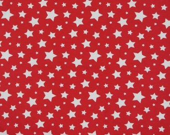 Knit Red White Stars