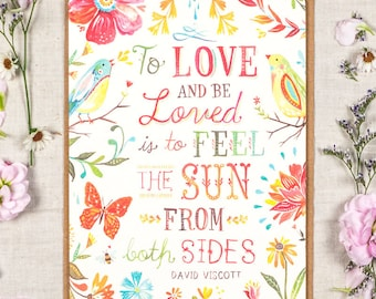 To Love and Be Loved - Greeting Card