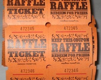 50 Orange Double Raffle Tickets