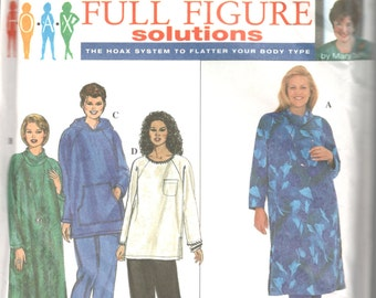 Simplicity 8382 Womens Pullover Caftan Top and Pants Pattern Easy Full Figure Plus Size Sewing Pattern Size 18 20 22 24 Bust 40 - 46 UNCUT