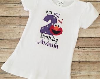 Elmo Birthday Shirt Girl, Elmo 2nd Birthday, Elmo Birthday Shirt, Elmo 1st Birthday, Sesame Birthday Shirt, Elmo Shirt, Elmo Onesie, Elmo