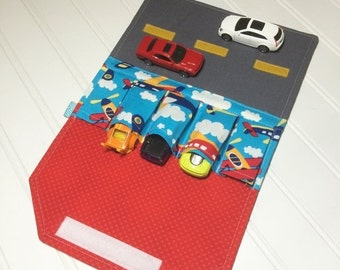 SUMMER SALE - Car Wallet - Holds 5 of your childs favorite cars - Airplanes