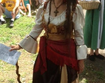 Renaissance Costume Wench, Pirate, Garb