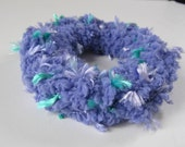 2 Purple Hair Scrunchies, Crochet Scrunchies, Hair Accessories,  2 Scrunchies,  Ponytail Covers, Hair Care, Pony Tail Holders, Hair Bands
