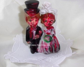 Tiny zombie cupcake or wedding cake topper