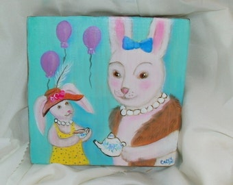 Tea Party bunnies woodland