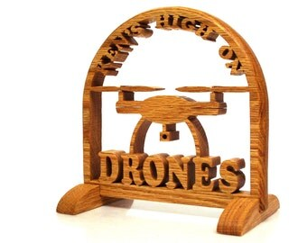 Wood Drone Sign, Filming Drone Sign
