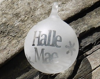 Personalised Glass Christmas Bauble - Custom Keepsake Decoration - Holiday Bauble - Festive Ornament