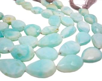 Peruvian Blue Opal Beads, Faceted Pear, Blue Opal, SKU 4147A