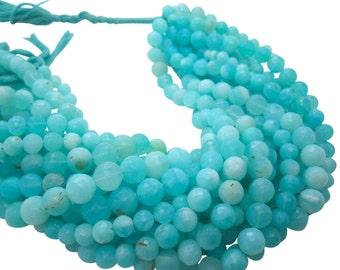 Blue Peruvian Opal Beads, Faceted Round Opal, Peruvian Opal Beads, SKU 4934