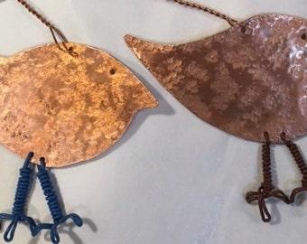 Tree Ornaments. Robin Ornaments. Bird Ornaments. Copper Bird Ornament. BUY A BIRD.