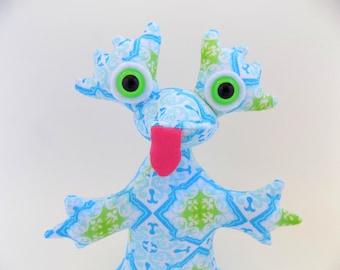 Cute Monster Plush, Cute Monster Toy, Cute Alien Toy, Cute Alien Plush by Adopt an Alien named Dapple
