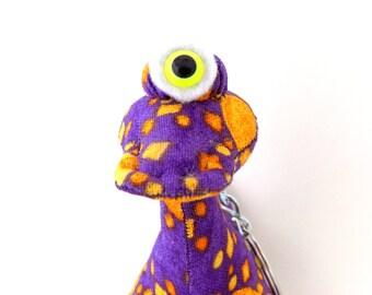 Cute Keychain, Alien Keychain, Monster Keychain, Cyclops Keychain, Weird Keychain, Zipper Pulle by Adopt an Alien named Monty