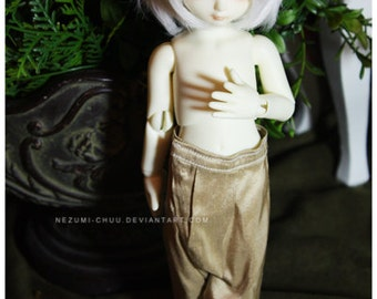ABJD Dollfie Soom Teenie Gem TG pale tan Silk dhoti style Pants