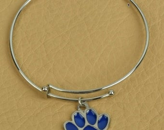 Expandable Bracelet with Paw Enamaled charm , sold by Each