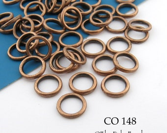 8mm Antiqued Copper Jump Ring, Connector, Closed Link (CO 148) 36 pcs BlueEchoBeads